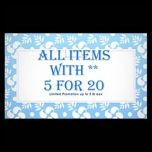 5 for $20 ** Items